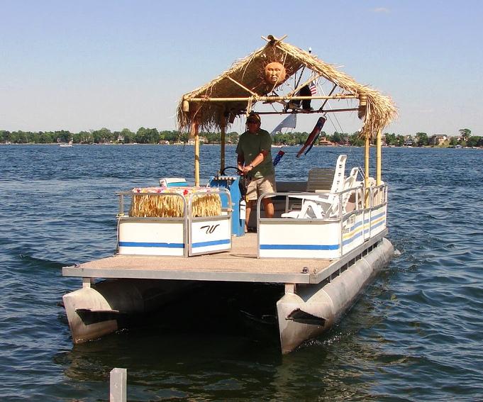 Free Pontoon tiki boat ~ DES